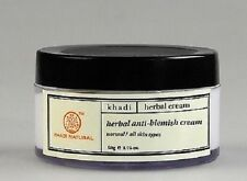 Khadi Natural Anti Blemish Cream Your Skin Velvety Smooth and Even Toned 50 Gm