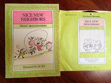 Nice New Neighbors Paperback Franz Brandenberg illustrations Aliki with record!