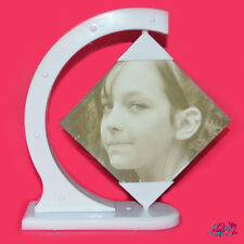 Personalised Rotating Picture Frame - Add Photo On Two Sides - Spins 360