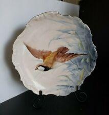 "Limoges Flambeau Ldbc Plates Hand Painted Decorative Bird 9-3/4"" Plate Signed"