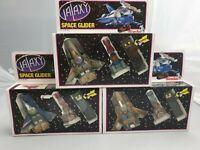 3x Vintage Galaxy Space Gilder Raumschiff mit Kabelfernsteuerung Nrfb Ovp Simba