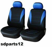 Pour Nissan Peugeot Citroen Housses Couvre Sieges Avant Auto Bleu - Noir