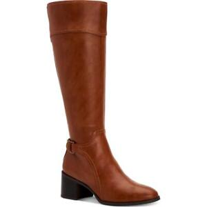 Style & Co. Womens Vannie Faux Leather Zipper Tall Riding Boots Heels BHFO 1037