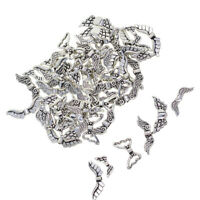 Assort 60 Retro Tibetan Silver Angel Wing Spacer Beads Jewelry Making Charms