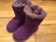 GENUINE UGG AUSTRALIA Infant Girls UGG Bailey Bow Purple suede boots size