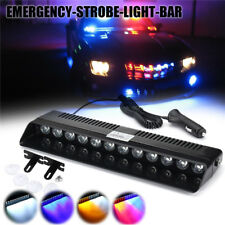 12 LED Car Emergency Strobe Light Bar Police Warning Flash Visor Deck Dash Lamp