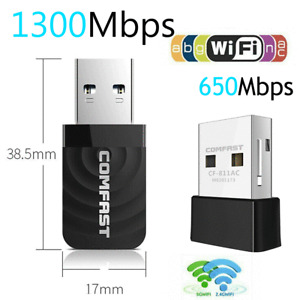 1300mps Wireless Internet Signal Booster Wifi Range Extender USB Adapter 2.4G/5G