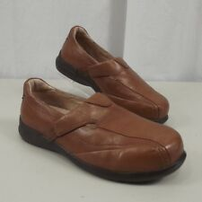 2e6ea7a859a7 Aravon Womens Tan Leather Loafers Shoes Sz 6 EE Extra Wide Slip On Comfort  Flats