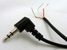 "Philmore 6 Ft Audio Cable Right Angle 3.5mm (1/8"") Stereo Male to Bare Wire"
