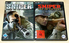 2 PC SPIELE SET - SNIPER PATH OF VENGEANCE & SNIPER ART OF VICTORY
