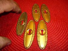 Ancien Trou a Clé Blason Acier doré d ancienne serrure de coffre coffret porte