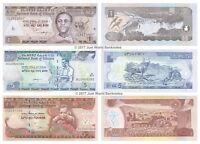 Ethiopia 1 + 5 + 10 Birr Set of 3 Banknotes 3 PCS UNC