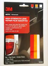 "3M High Strength Lens Repair Film 03345 Red Amber Clear 3.75""x7.75"" *FREE SHIP*"