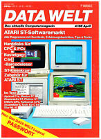 Data Welt 4/86 - April - Computermagazin - Commodore 64 Amiga Atari ST CPC 1986