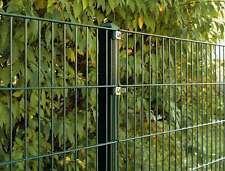 10 Meter Doppelstab Mattenzaun Moosgrün / 123cm hoch / Metallzaun Tor Gartenzaun