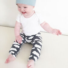 Toddler Baby Boys Girls Cloud Printed Long Pants Sweatpants Trousers PP Leggings