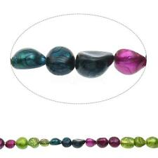 "DIY Findings Mixed Color Baroque Cultured Freshwater Pearl Beads 15.5"" 10-11mm"