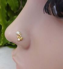 Indian Nose Ring Nose Piercing Medusa Stone Crock Screw Nose Pin Nose Jewelry.