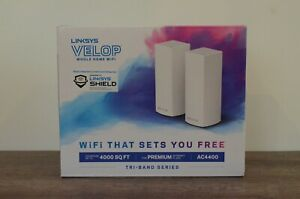 Linksys Velop AC4400 Whole Home Mesh Wi-Fi System 2-Pack (WHW0302) pre-owned