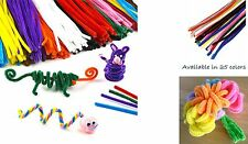 """100PCS Craft Chenille Stems Pipe Cleaners 6mm x 12"""" Top Quality 25 colors"""
