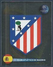 PANINI UEFA CHAMPIONS LEAGUE 2008-09- #077-ATLETICO MADRID TEAM BADGE-FOIL