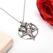 1pc  Satanic goat's Occult Ritual Vintage Baphomet Inverted Pentagram Necklace
