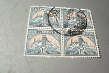 South Africa # 107 used block of 4