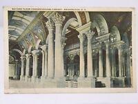 Postcard Second Floor Congressional Library of congress Washington DC A7