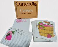 Current Vintage Blank Recipe Cards Stationery Set STRAWBERRY SPREE Gift Set