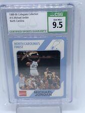 1989-90 Collegiate Collection #15 Michael Jordan North Carolina CSG 9.5 Tarheel