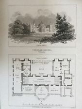 1806 Print; View and Plan of Corsham House, near Chippenham in Wiltshire