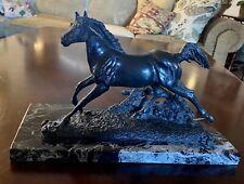 J Lunger Horse Bronze Sculpture