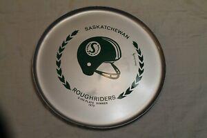 1973 Saskatchewan Roughriders Serving Tray $100 Plate Dinner Sask Round CFL