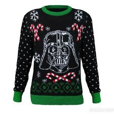 STAR WARS Disney DARTH VADER UGLY CHRISTMAS SWEATER Candy Canes Men's LRG NWT