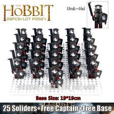 New Custom 26pcs Uruk-hai Army Minifigures Lord of the Rings Fits Lego minifgs