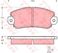Bremsbelagsatz Scheibenbremse - TRW GDB297