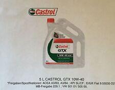 1x 5 Liter Castrol GTX 10W-40 Motoröl A3/B4 Motorenöl BENZINER UND DIESEL