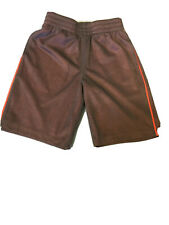 Euc Boys Size M 5/6 Jumping Beans Polyester Exercise Shorts Mesh Grey Orange
