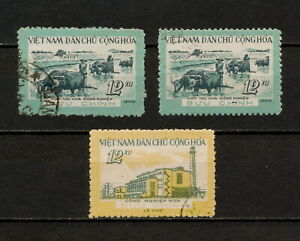 (YYAZ 481Z) Vietnam 1960 USED TYPE Mich 139 -140 Sc 134 - 135 Plowing & Factory