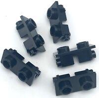 Lego 5 New Black Hinge Bricks 1 x 2 Top Pieces Parts