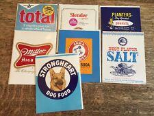 7 Vintage Hallmark Contemporary Cards Licensed Planters Nuts Miller Beer