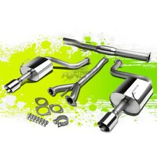"""FOR 09-15 NISSAN MAXIMA V6 DUAL 4""""ROLLED TIP STAINLESS STEEL CATBACK EXHAUST KIT"""