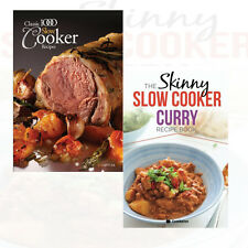 Classic 1000 Slow Cooker Recipes 2 Books Collection Set Skinny Slow Cooker Curry