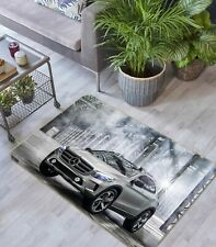 3D Mercedes-Benz NAO3368 Transport Game Rug Mat Elegant Photo Carpet Mat Fay