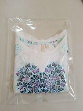 Disney Cinderella Girls Long Sleeve Top Butterfly Heart Design size 10 Nwot