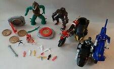 Vintage 1990's Power Rangers Lot Figures Vehicles Accessories Bikes Bandai