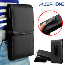 Durable Leather Holster Flip Belt Clip Case Cover For Telstra 4GX Smart Phone