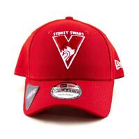 Sydney Swans New Era Cap AFL 9Forty Curved Brim Hat In Red Gym