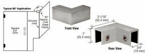 CRL SOGC90BN Sleeve Over Glass Clamp Brushed Nickel 90 Degree Shower Corner