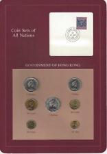 Coin Sets of All Nations - Hong Kong, Maroon Card